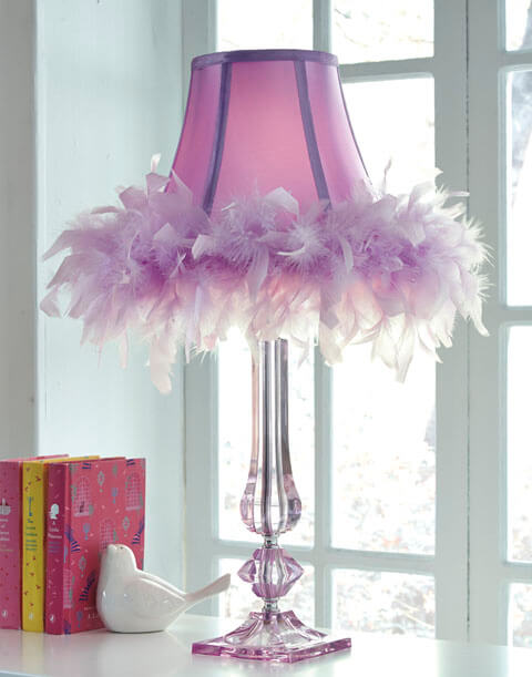 Auren Purple Table Lamp