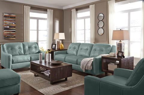 o kean sky leather living room all american furniture buy 4 less