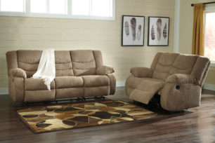 Tulen Mocha Reclining Sofa & Love