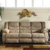 9860488 Tulen Mocha Reclining Sofa