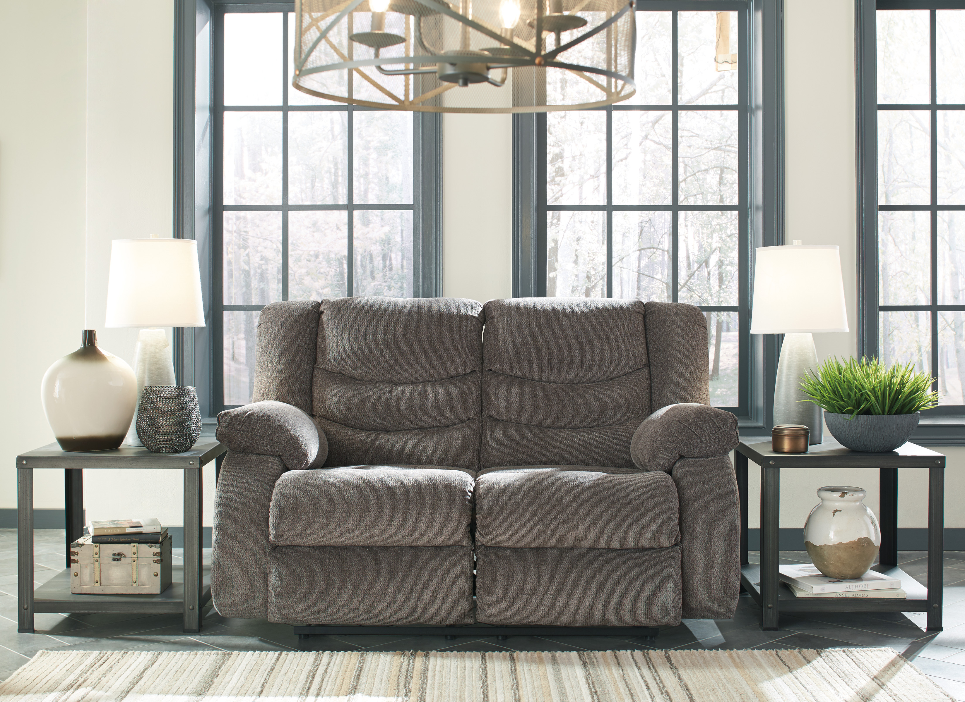 Tulen Grey Reclining Sofa Love All American Furniture