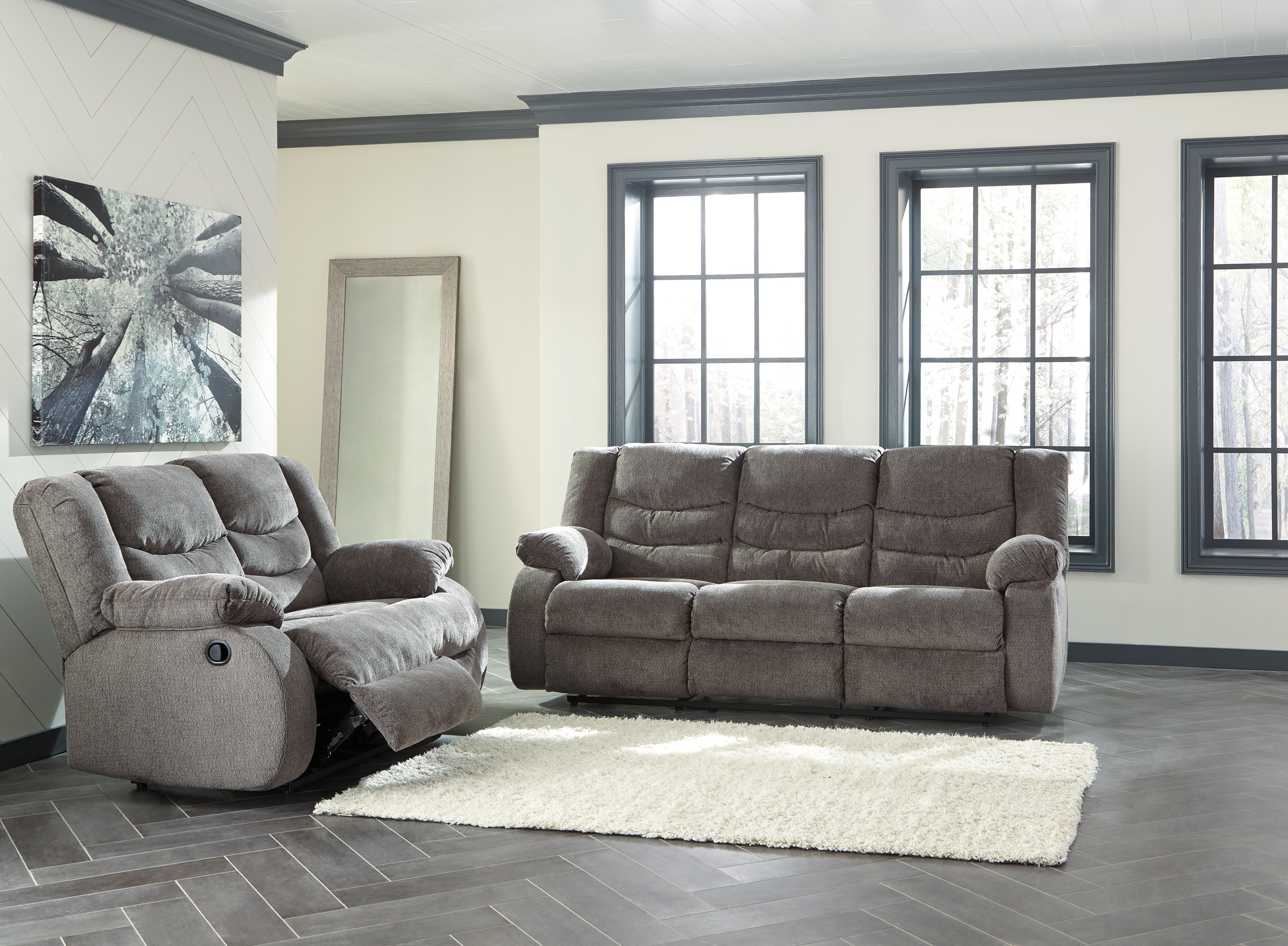 Tulen Grey Reclining Sofa Love All American Furniture Buy 4