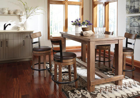 Pinnadel_Counter_Height_Table_With_Upholstered_Swivel_Bar_Stools