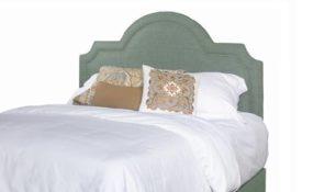 Georgia Queen Upholstered Scalloped Headboard