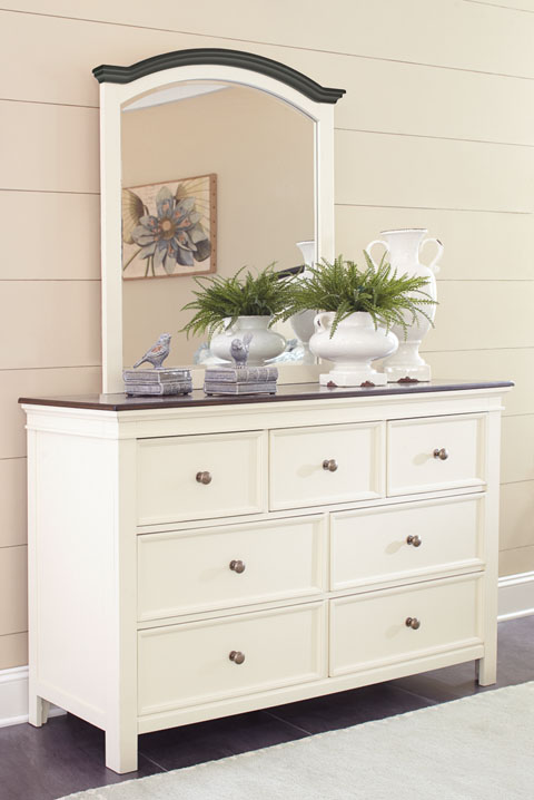 Woodanville signature bedroom collection all american for Bedroom furniture for less
