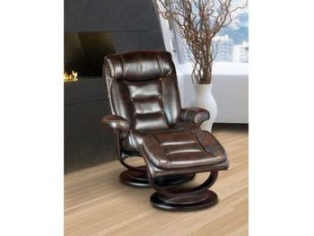 Triton Swivel Recliner With Ottoman Nutmeg All
