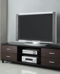 700826 Black Contemporary TV Console