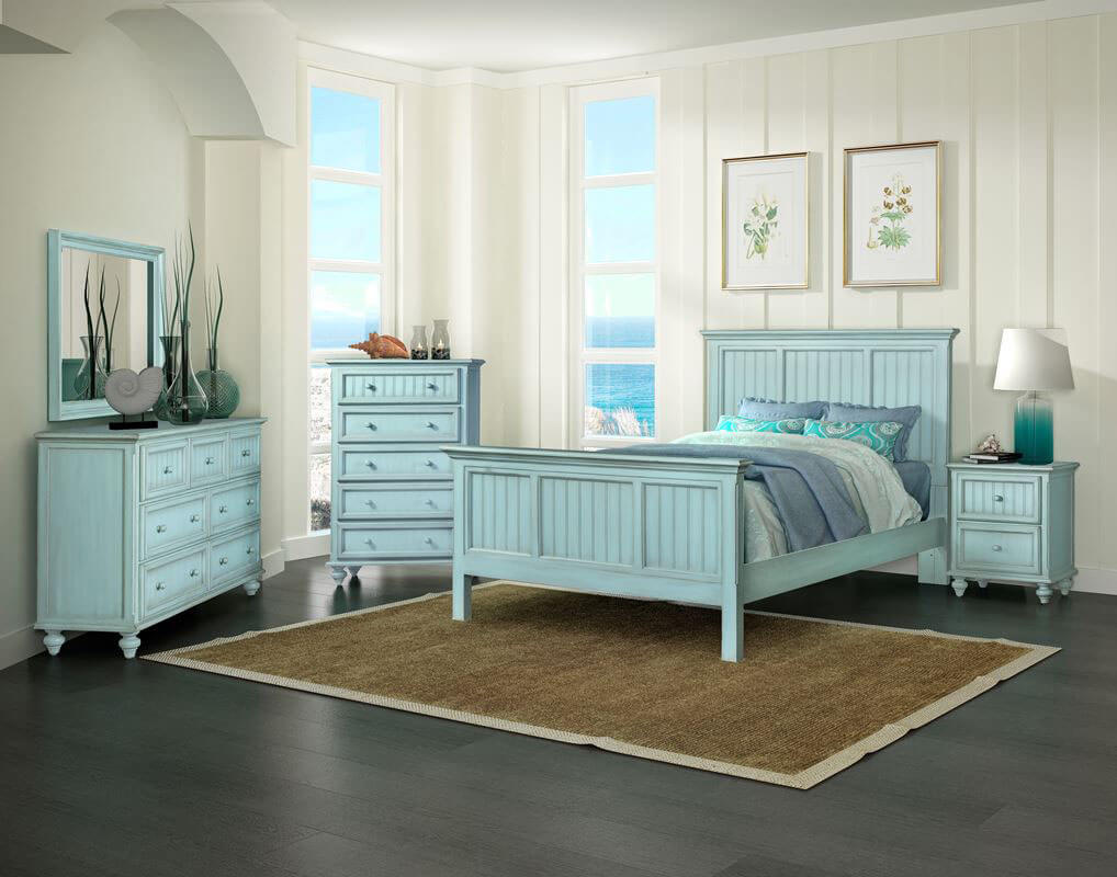 Monaco Bleu Bedroom Collection All American Furniture
