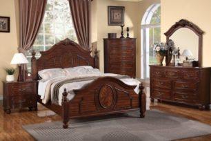 Poundex_Bedroom_Set_Cherry