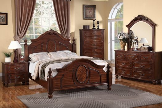 Natural Cherry Wood Bedroom