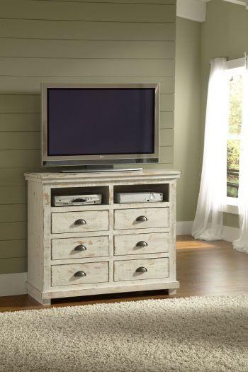 Willow Distressed White Slat Bedroom Set: Willow Distressed White Bedroom