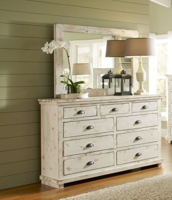 Willow Distressed White Bedroom All American Furniture Buy 4 Less Open To Public