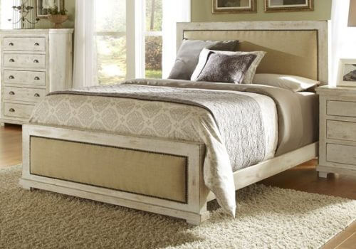 willow distressed white bedroom - all american furniture
