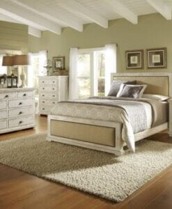 Willow_Distressed_White_Upholstered_Bed_Set