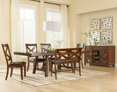 Omaha Brown Standard Height Dining Table Set All