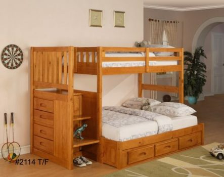 Wood Staircase Bunk Bed