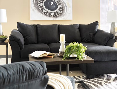 Awesome Darcy Black Sofa Chaise Machost Co Dining Chair Design Ideas Machostcouk