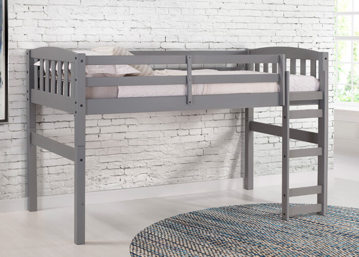 Grey Adaptable Bunk Bed Two Twin Beds 7 Different Set Ups