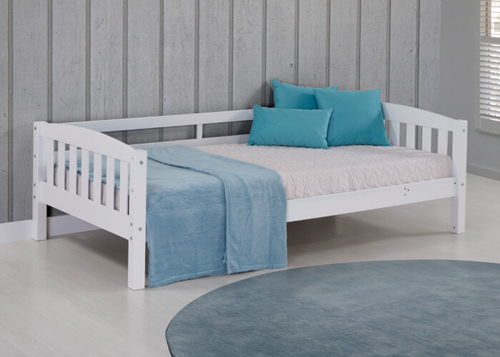 White Adaptable Bunk Bed Two Twin Beds 7 Different Set Ups
