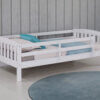 3018 White Twin Bed Railing Option