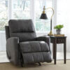 44700-25 Gulfbay Grey Leather Reclined