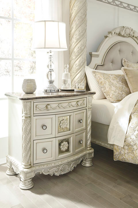 Cassimore Bedroom Collection Canopy Upholstered Panel