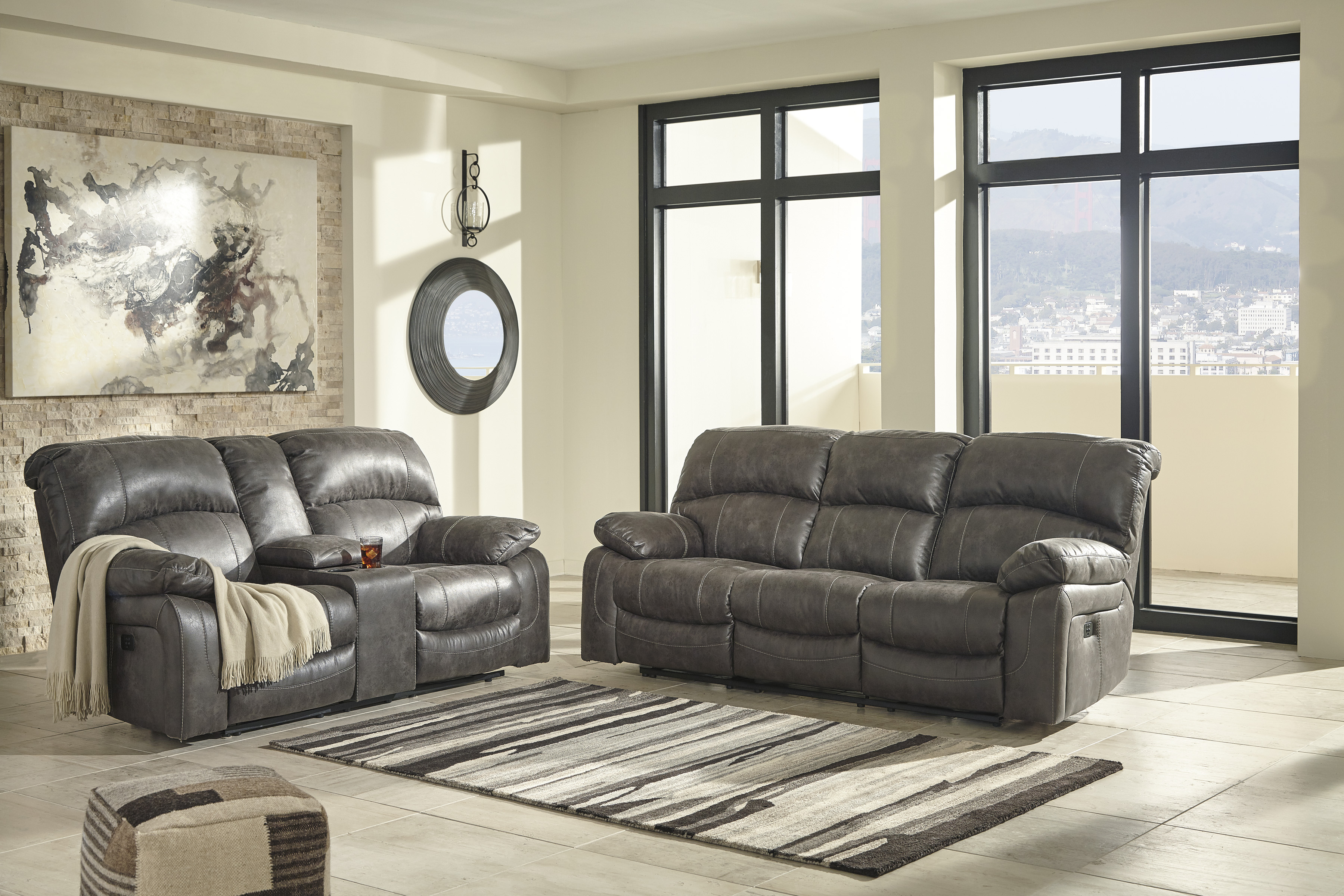 Dunwell Steel Power Reclining All American Furniture