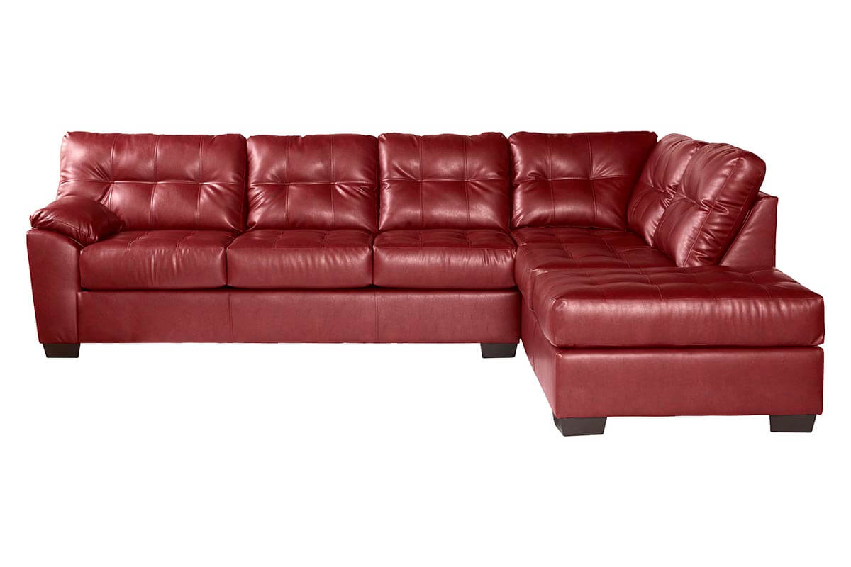 San Marino Leather Sectional All American Furniture