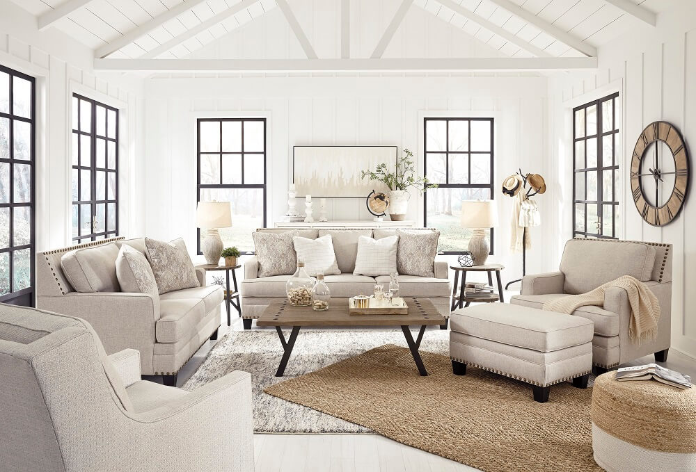 Claredon Living Room Set - All American Furniture - Buy 4 Less - Open to Public